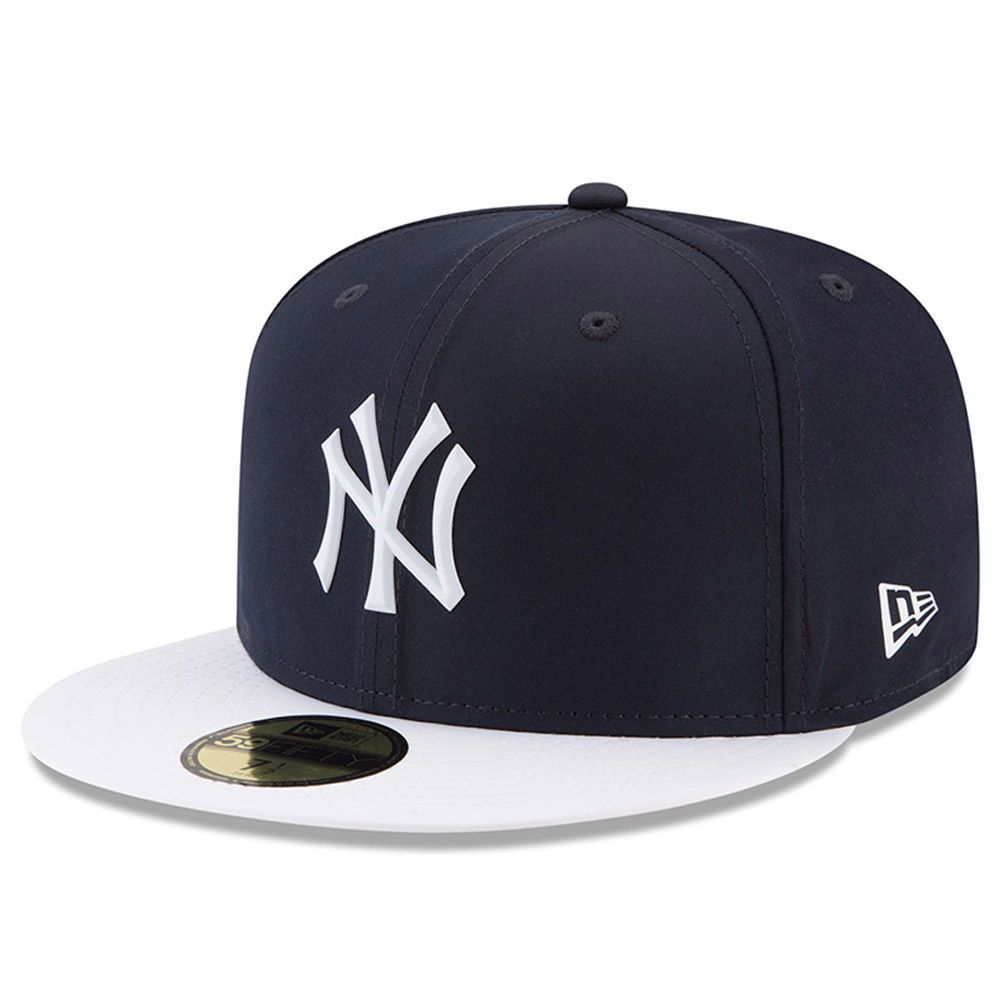 Men S New York Yankees New Era Navy 2018 On Field Prolight Batting Practice 59fifty Fitted Hat Fitted Hats New Era Cap New York Yankees
