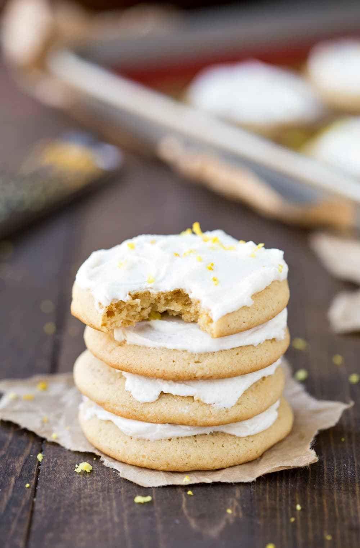 Lemon Sour Cream Sugar Cookies I Heart Eating Recipe Sour Cream Sugar Cookies Cookie Recipes Delicious Cookie Recipes