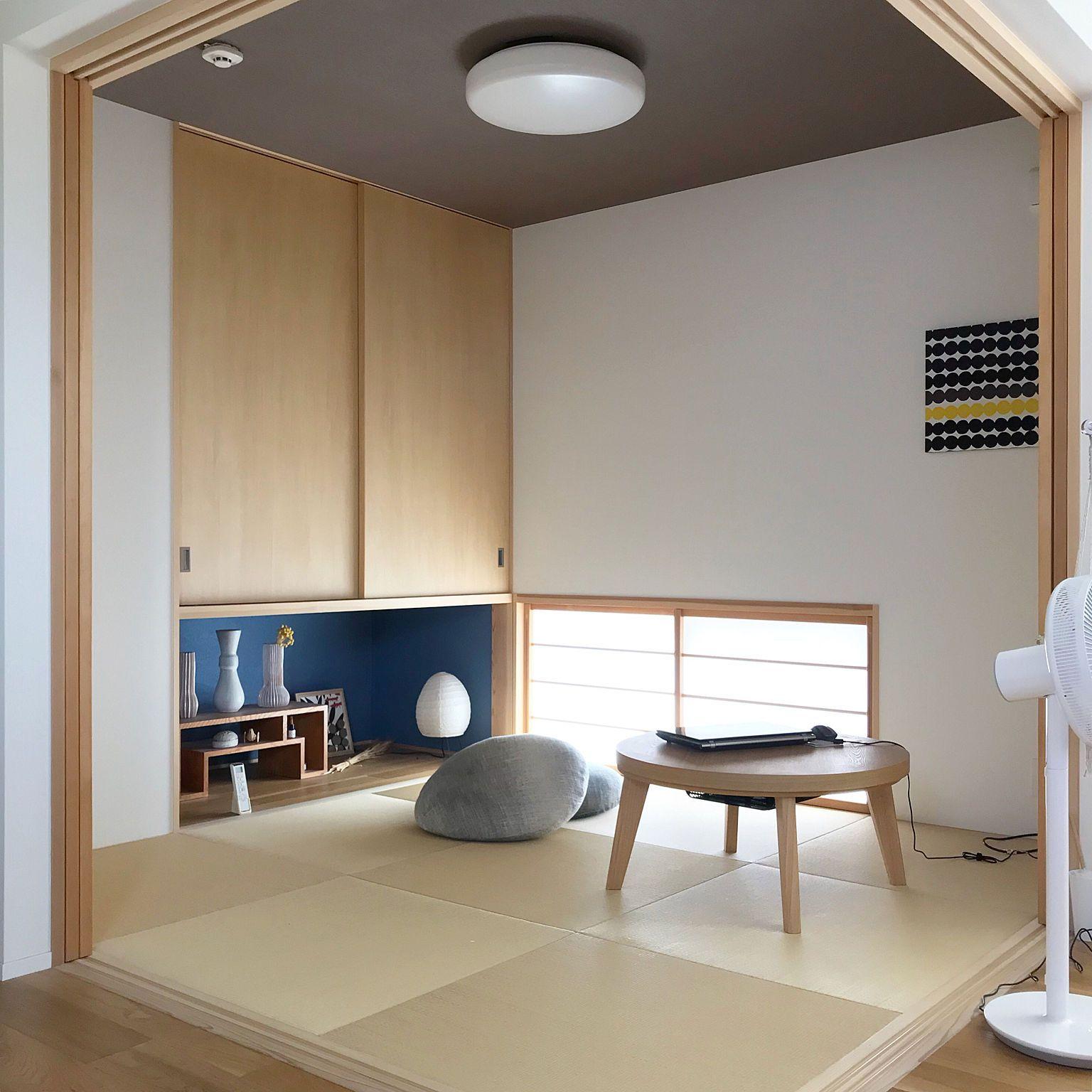 部屋全体 地窓 吊り押入れ リビングつながりの和室 琉球畳 などの