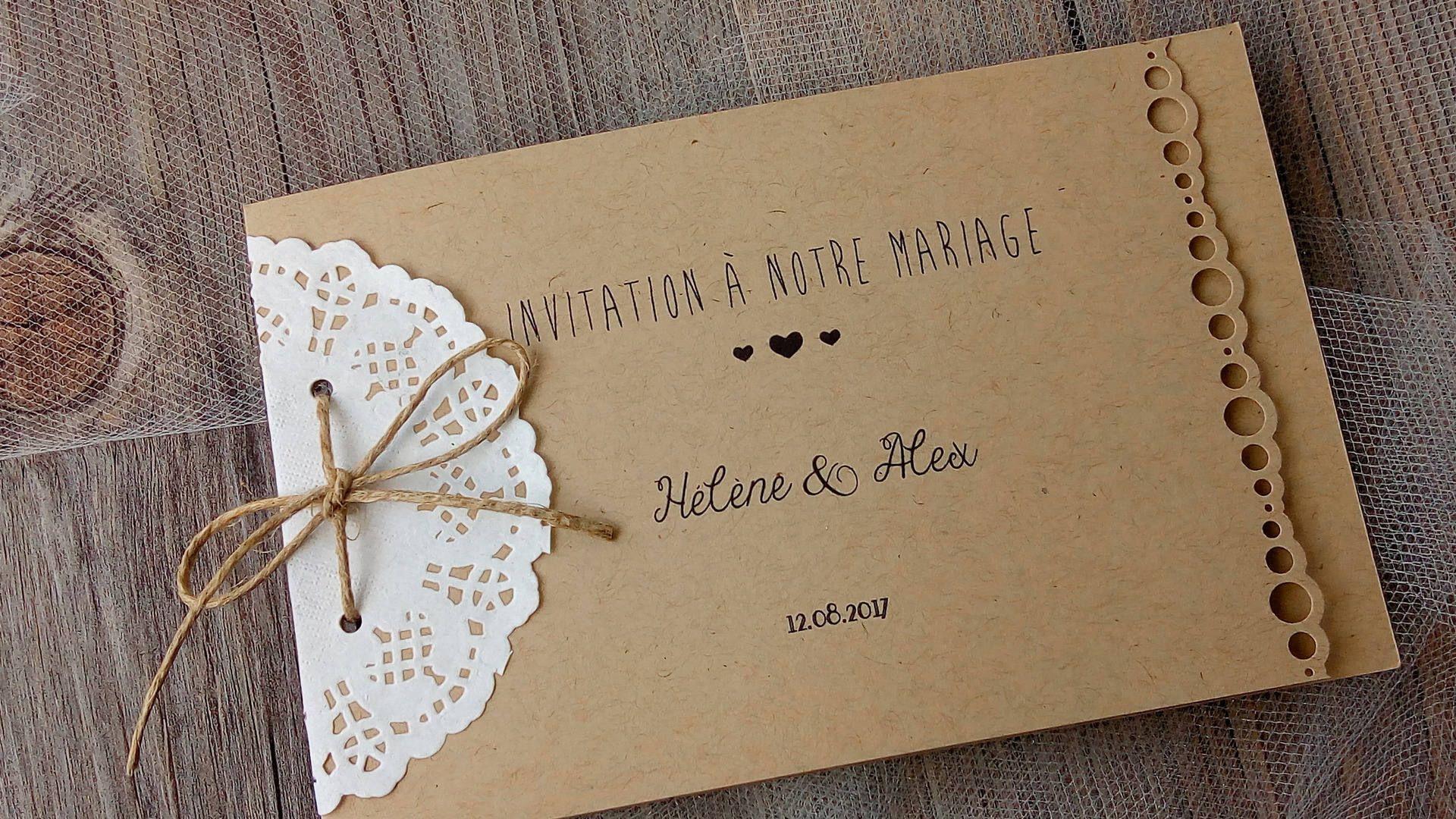 Faire Part De Mariage Save The Date Carte D Invitation