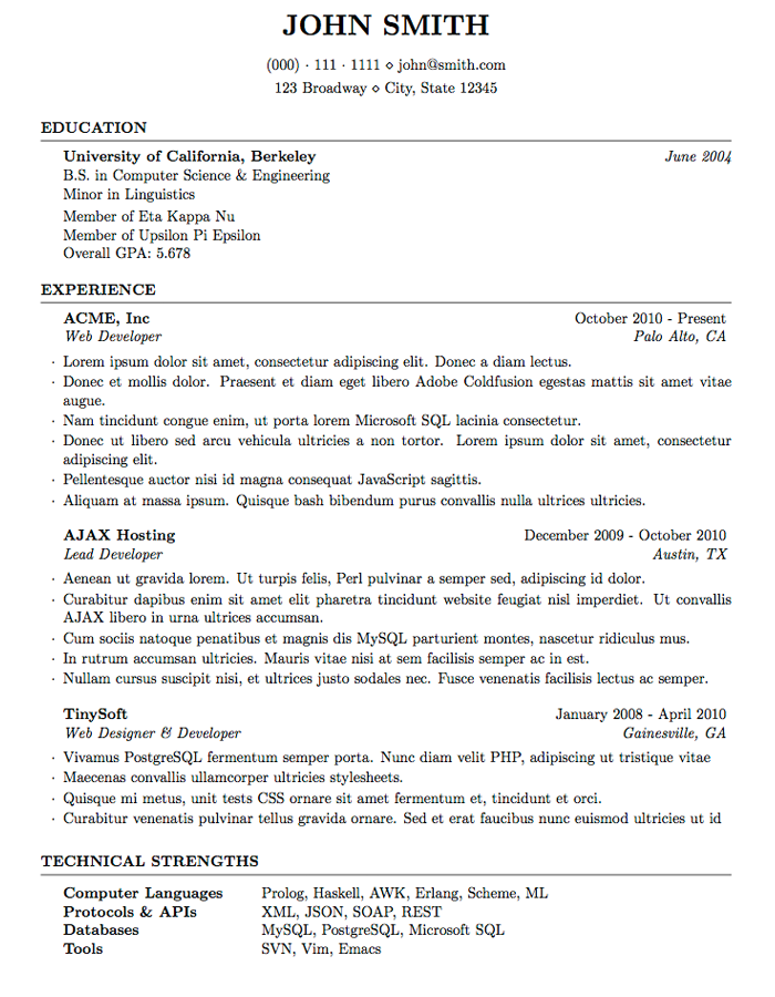 Medium Length Professional CvResume Template  Helpful Info