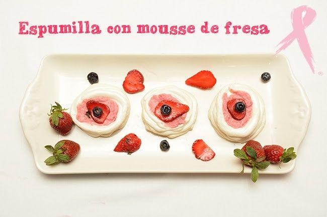 Espumillas con mousse de fresa