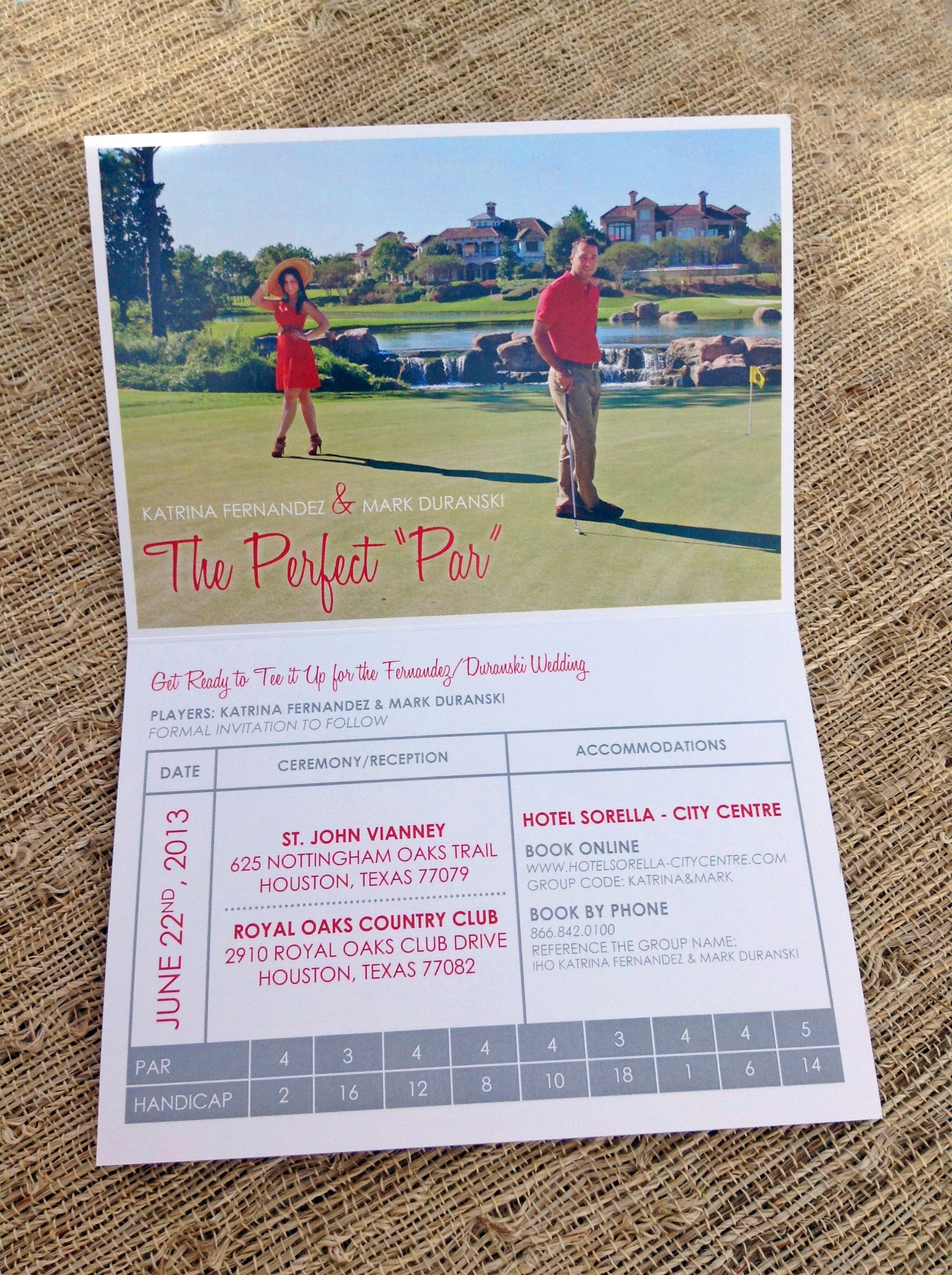Invitation ideas Golf Themed Save the