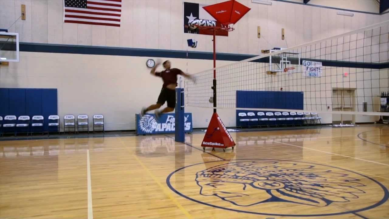 How To Spike A Volleyball In Slow Motion With Images Volleyball Training Volleyball Drills