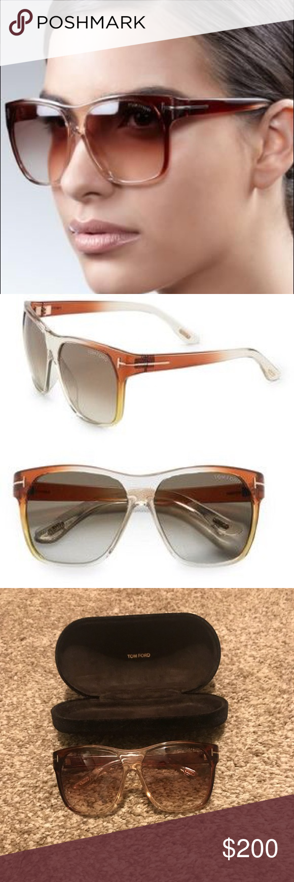 99ff5fe62a Tom Ford Federico sunglasses Excellent condition! Tom Ford Accessories  Sunglasses
