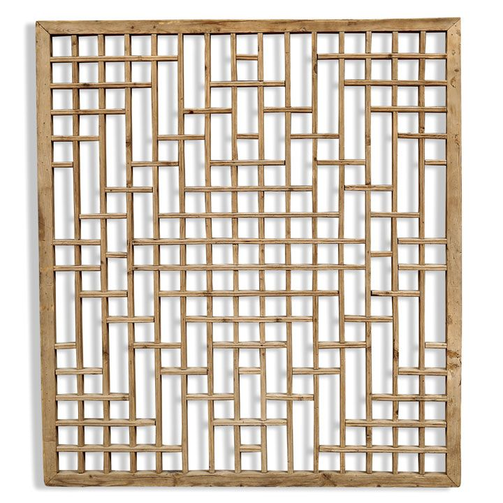 Shanxi, circa 1900 This large lattice panel was made as a divider in a  Chinese - Shanxi, Circa 1900 This Large Lattice Panel Was Made As A Divider