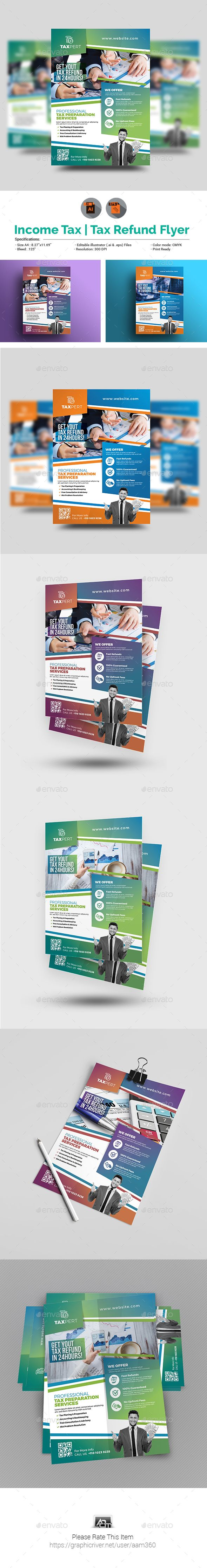 Income Tax Flyer Template | Flyer template, Template and Ai illustrator