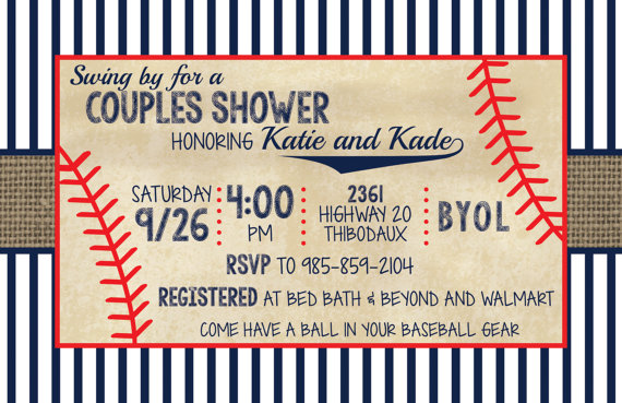 vintage baseball couples shower invitation by wwwmakemydayllccom baseball wedding shower baseball birthday party couples