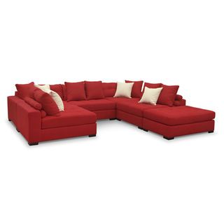 venti 6 piece sectional red