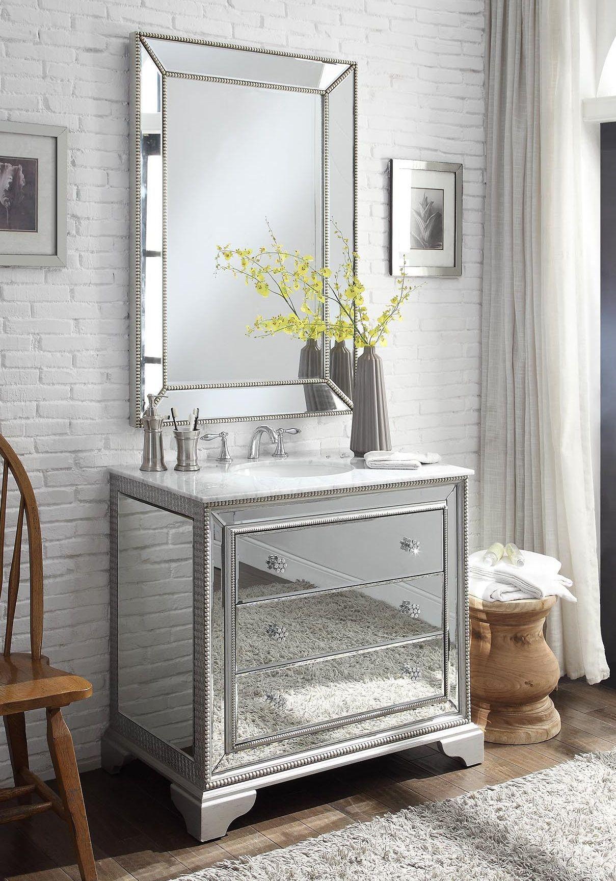 42 Mirror Reflection Asha Bathroom Vanity W Ramsey Mirror Dh 3282 42 Mr2375