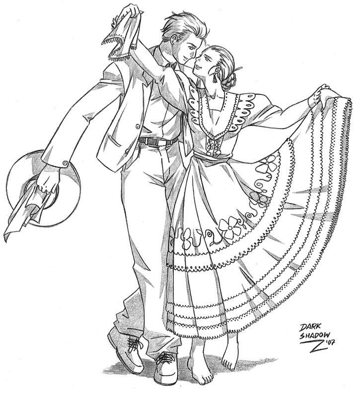 Niña bailando marinera para colorear - Imagui | imagenes para ...