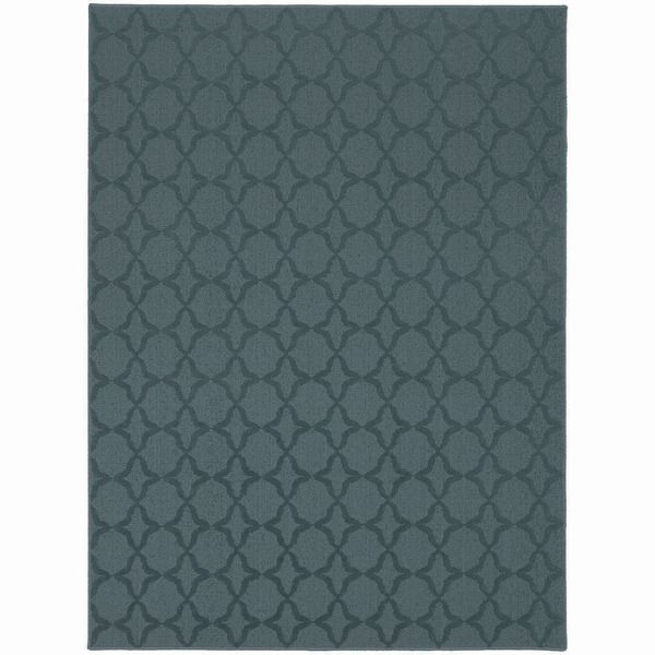 Naples Aqua Area Rug (7'6 x 9'6) | Overstock.com Shopping - The Best Deals on 7x9 - 10x14 Rugs