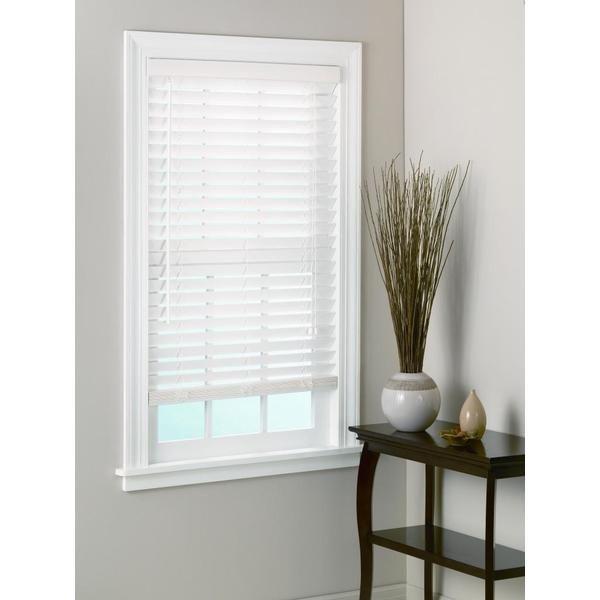 White Bamboo Window Blinds 2 Inch Slats