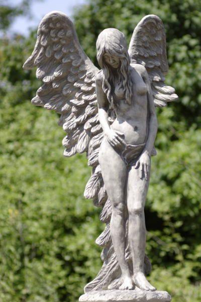 Steinfiguren Garten gartenfigur engel shekina steinguss gartendeko steinfigur