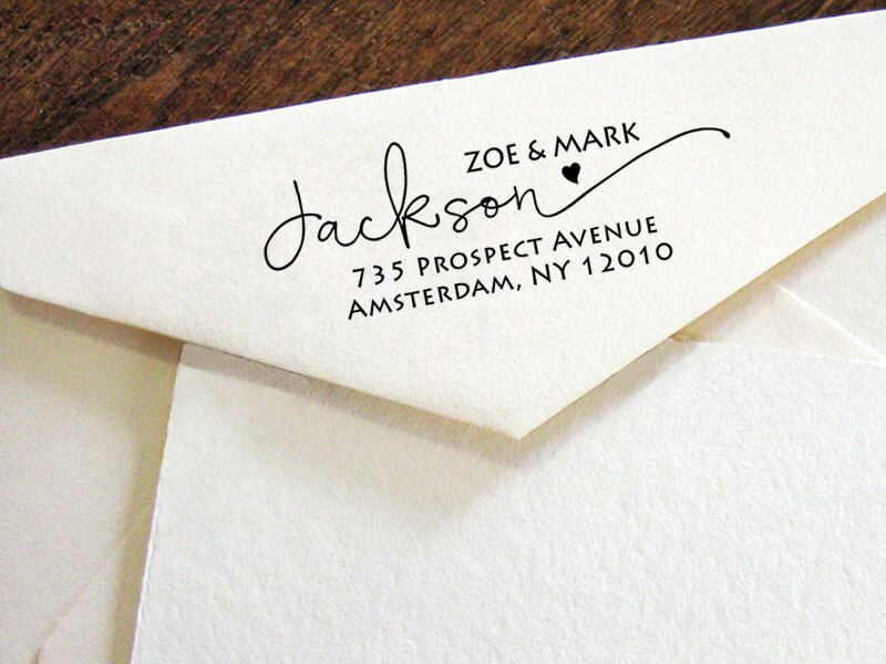 Custom return address stamp modern calligraphy stamp