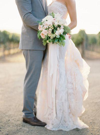 Lace Ines Di Santo wedding dress: http://www.stylemepretty.com/2014/03/12/al-fresco-wedding-in-santa-ynez/ | Photography: Jose Villa - http://josevilla.com/