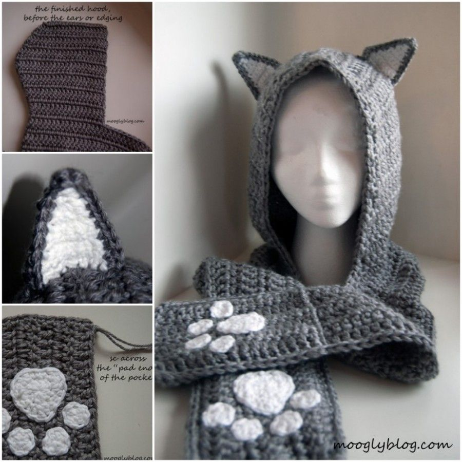 Crochet Animal Scarves Patterns You\'ll Love Video Tutorial | Gorros ...