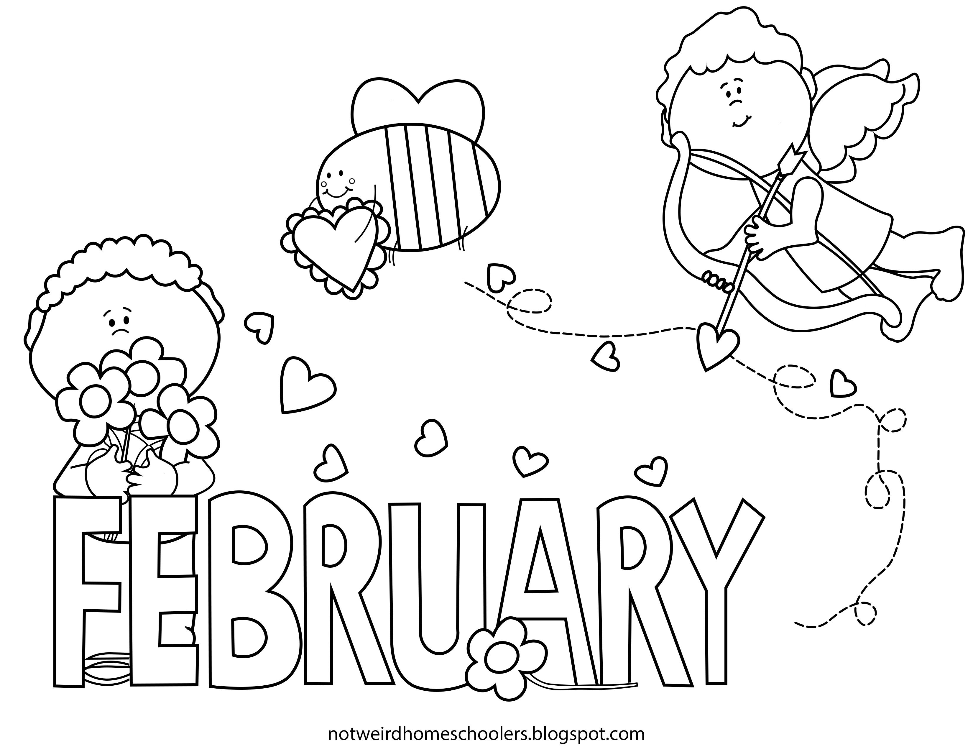 February Valentines Day Coloring Page Valentines Day Coloring Page Valentine Coloring Pages Printable Coloring Pages