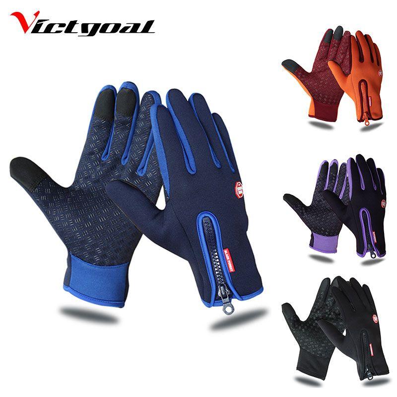Victgoal Waterproof Cycling Gloves Full Finger Touch Screen Men