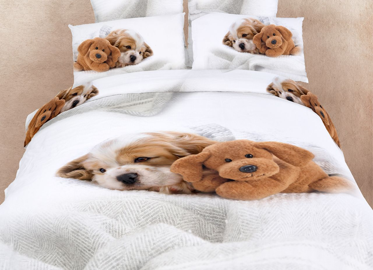 Animal Print Bedspreads | , Teen And Dorm Bedding Doggies Kids Puppy Dog  Print 3D Bedding .