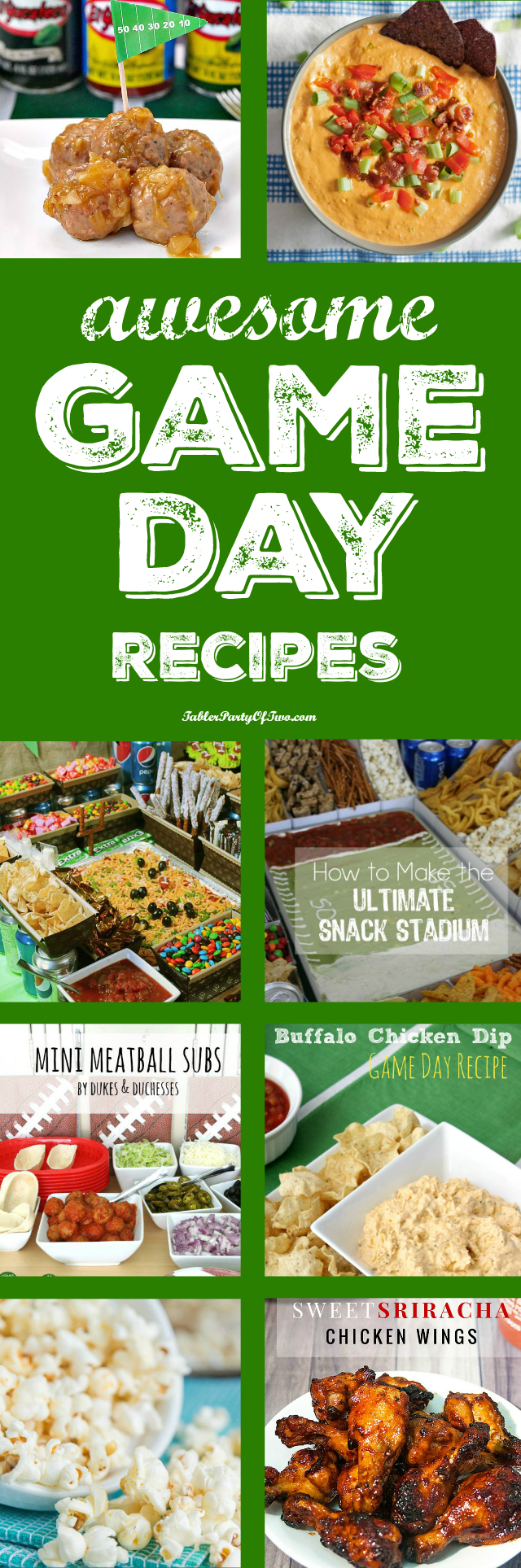 Game Day Recipes & Sunday Features {61} - Tabler Party of Two