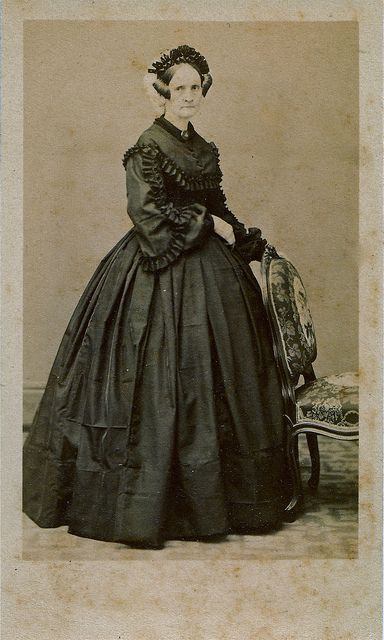 French Widow Albumen Carte De Visite Circa 1860