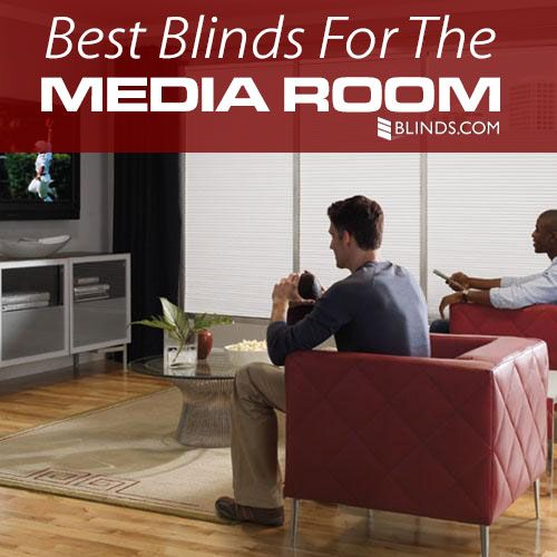 Get Ready For Game Day Best Window Treatments For Media Room Blinds Com Media Room Small Media Rooms Media Room Design
