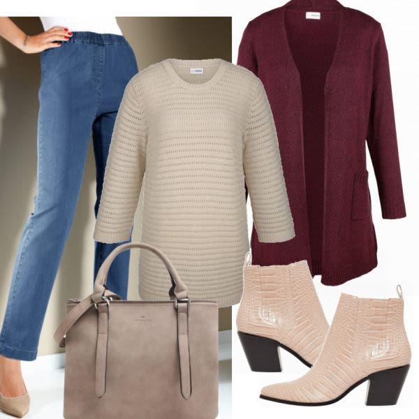 Große Größen Outfits: MM Pullover Beige bei FrauenOutfits ...