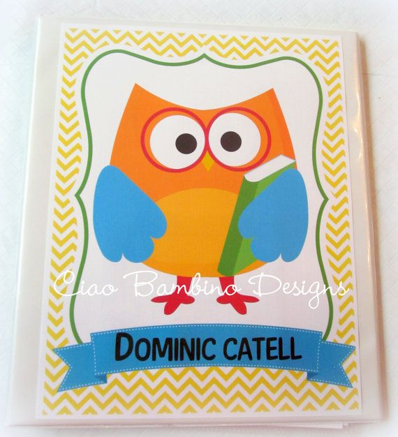 DIY Printable Personalized OWL Binder Insert/Cover By