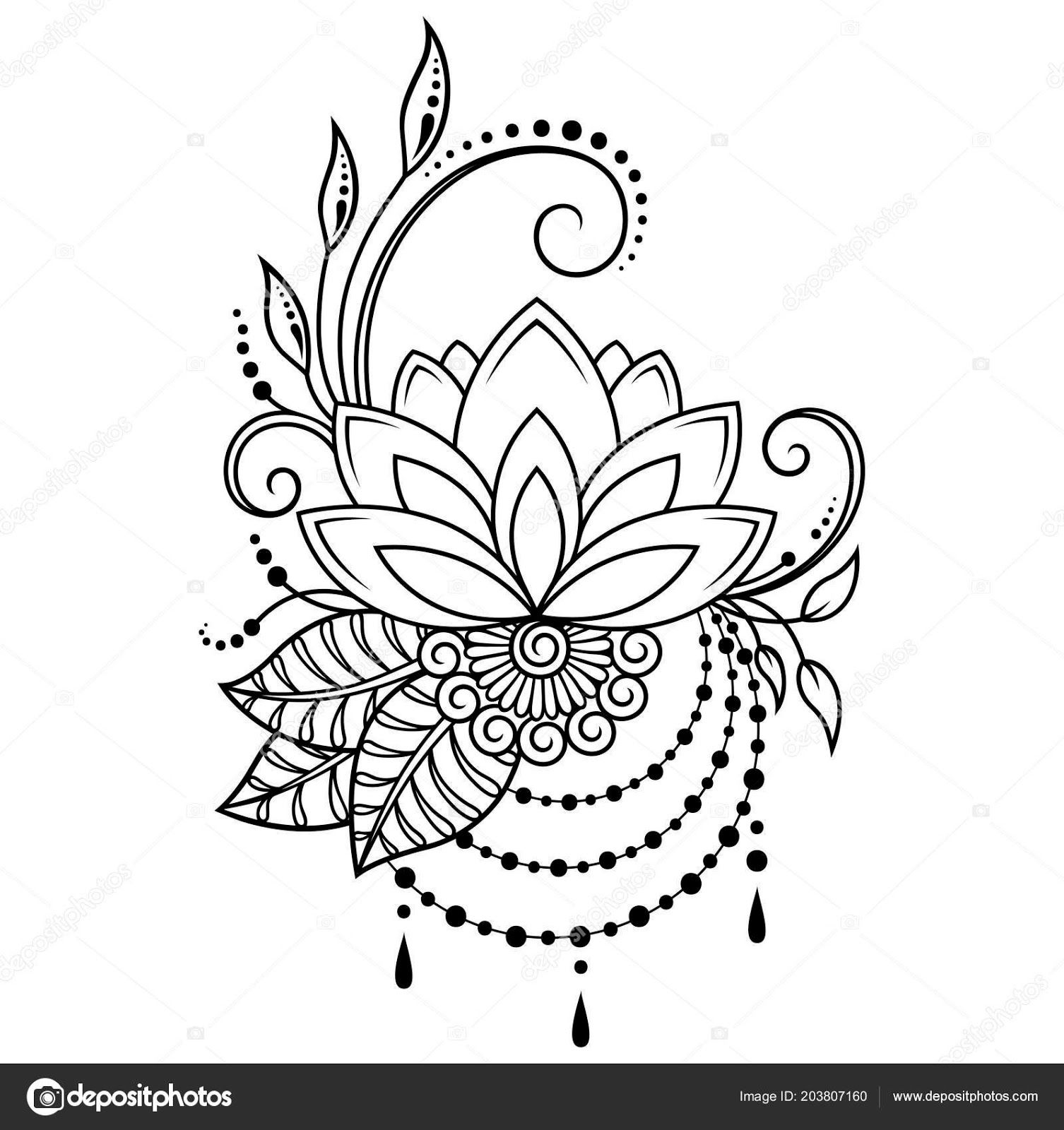 Top 55+ Tattoo Design Drawings Henna drawings, Lotus