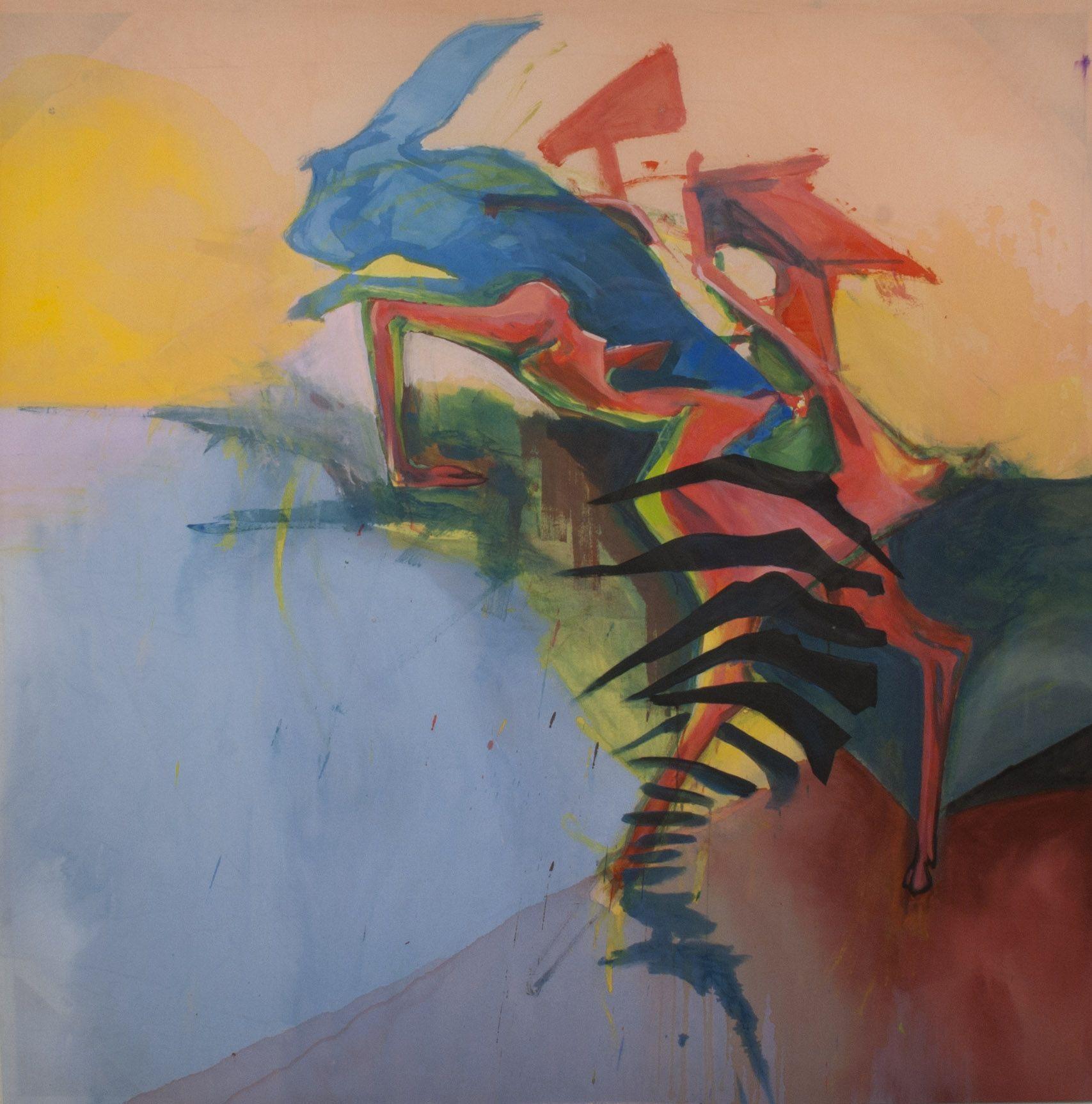 Kemeja Batik Lasem: Konrad Peszko, Jump, 2012 #art #painting #lasem
