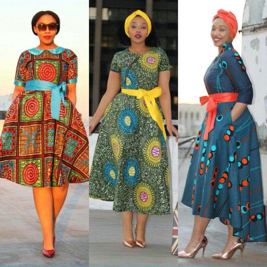 Modest print wear liputa african print wax print midi African fashion designs pictures