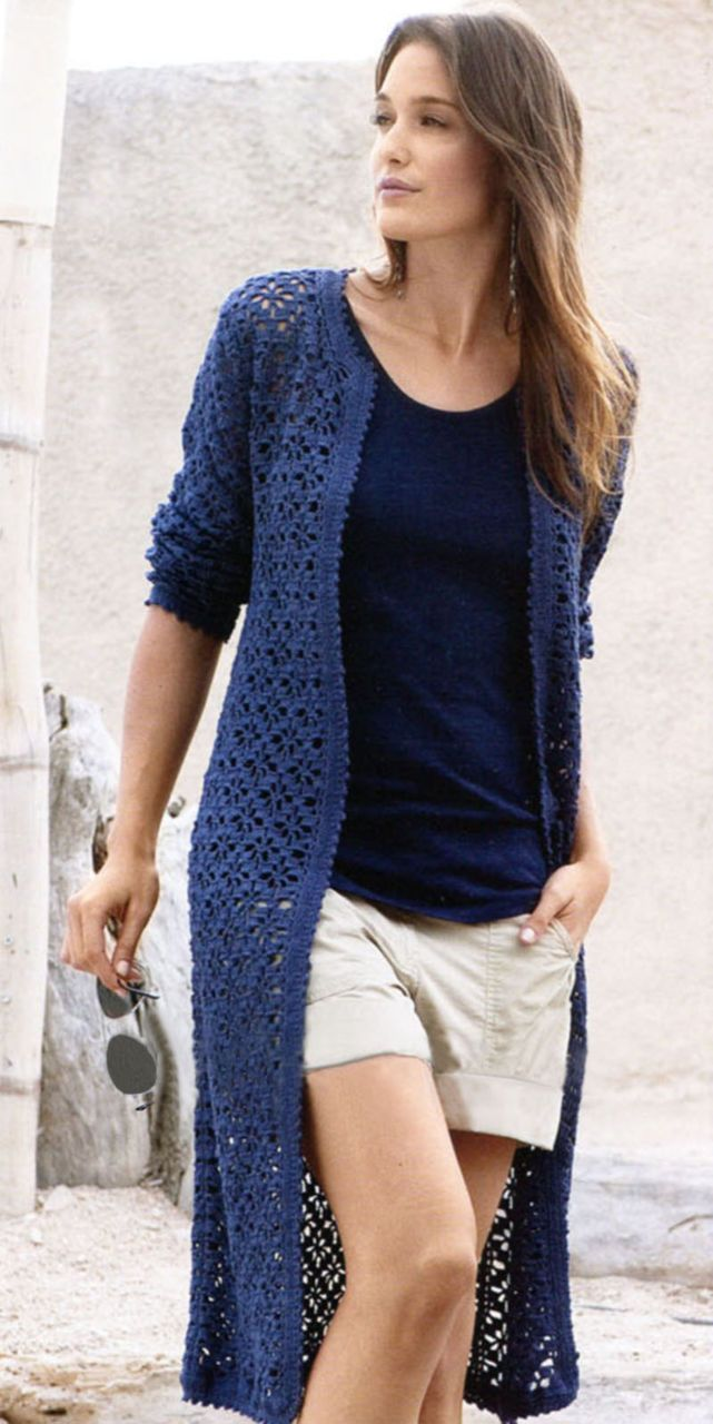 Кардиган крючком : вязание, схемы, модели, описание, для женщин, ажурный