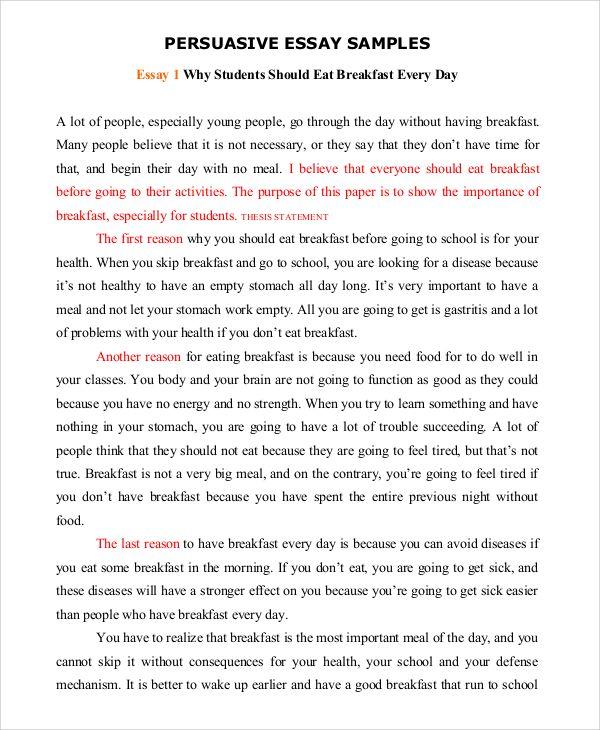 Sample of speech essay