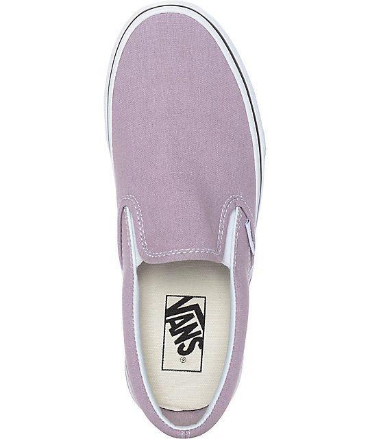 bfcde17a5a Vans Slip-On Sea Fog   True White Skate Shoes