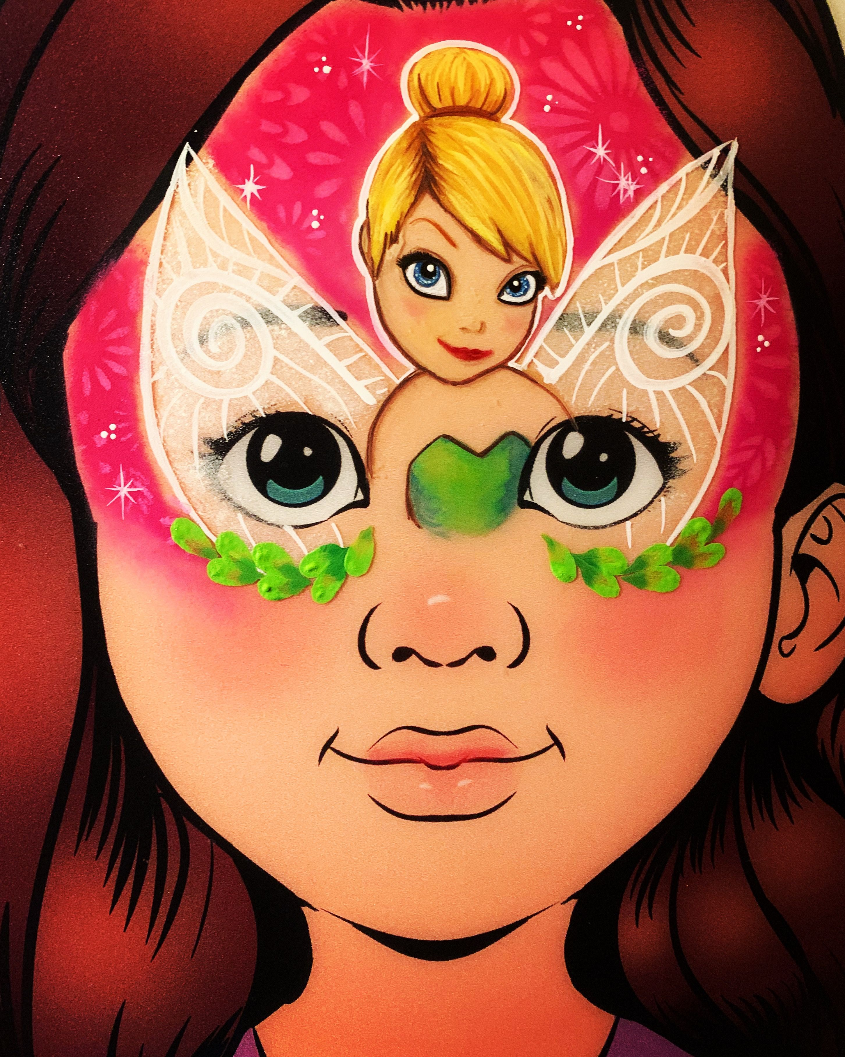 Pin By Txmvrv On Face Painting Tinkerbell Face Art Mario Characters