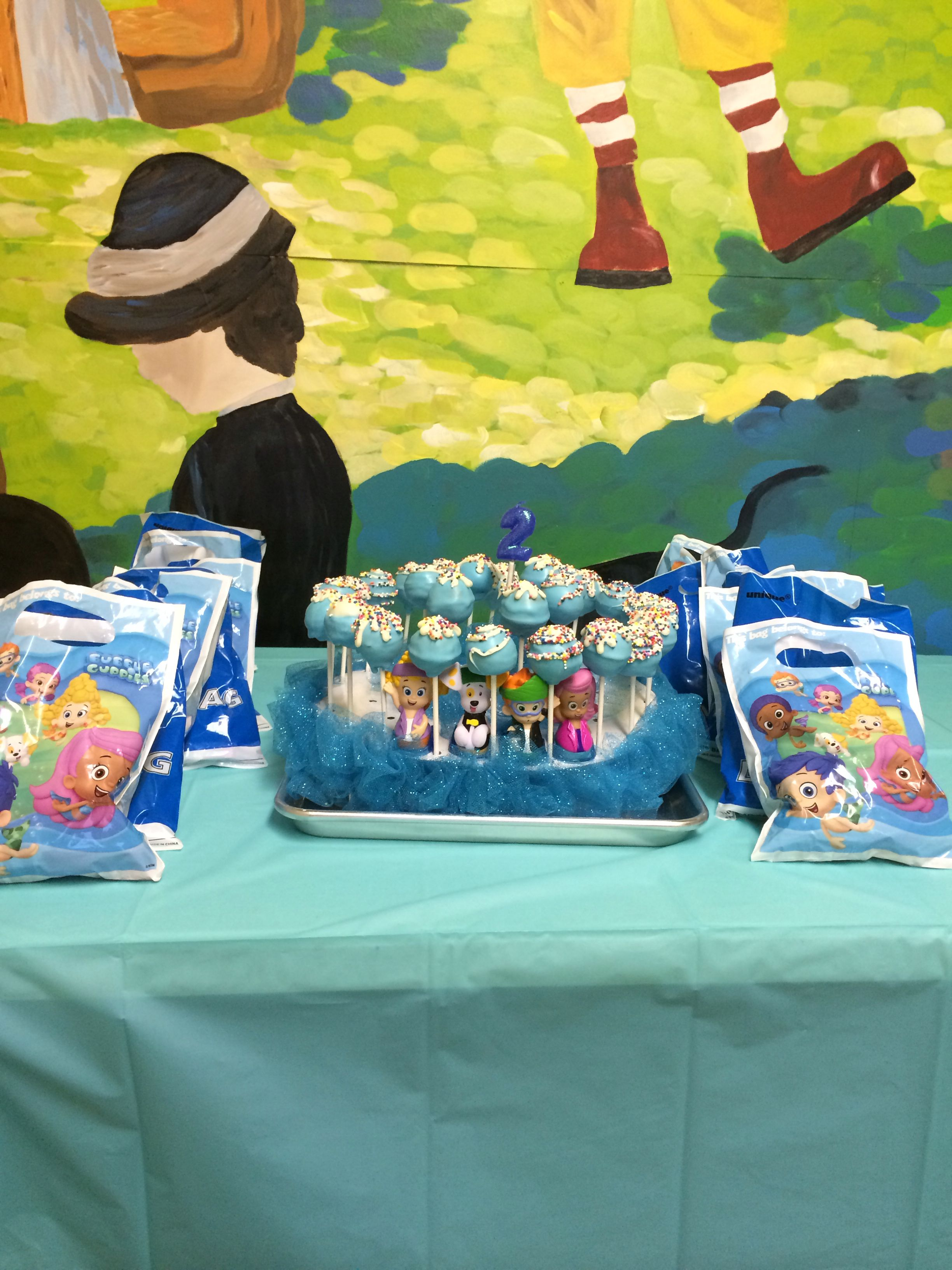 Bubble guppies cake pops 2nd birthday parties bubble