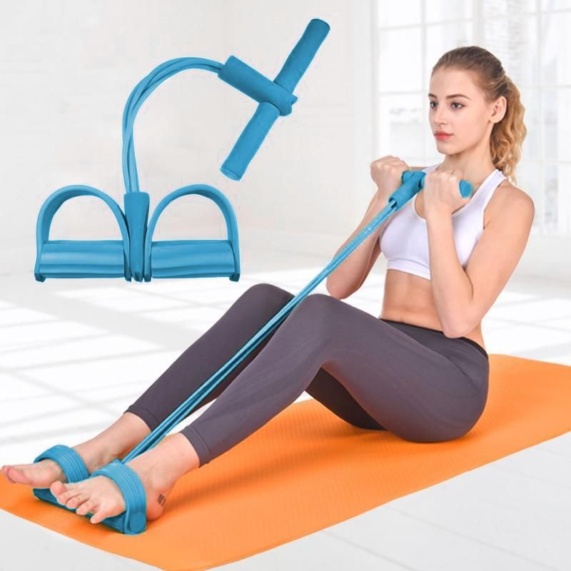 Workout Leg Thigh Fitness Exercise Enhancer Latex Tube Resistance Bands