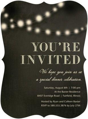 Evening Glow Party Invitations Hallmark Dark Gray Gray www