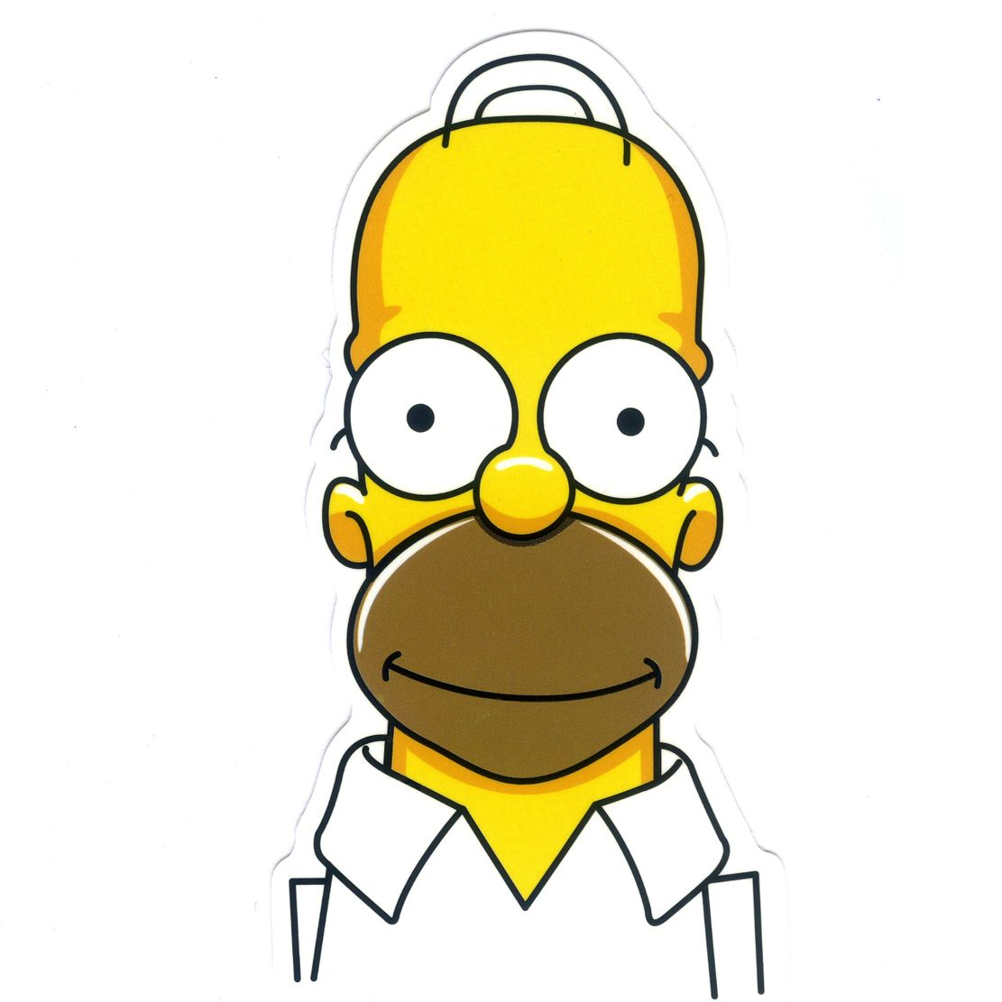 1224 homer simpson bald head height 8 cm decal sticker - Homer simpson and bart simpson ...