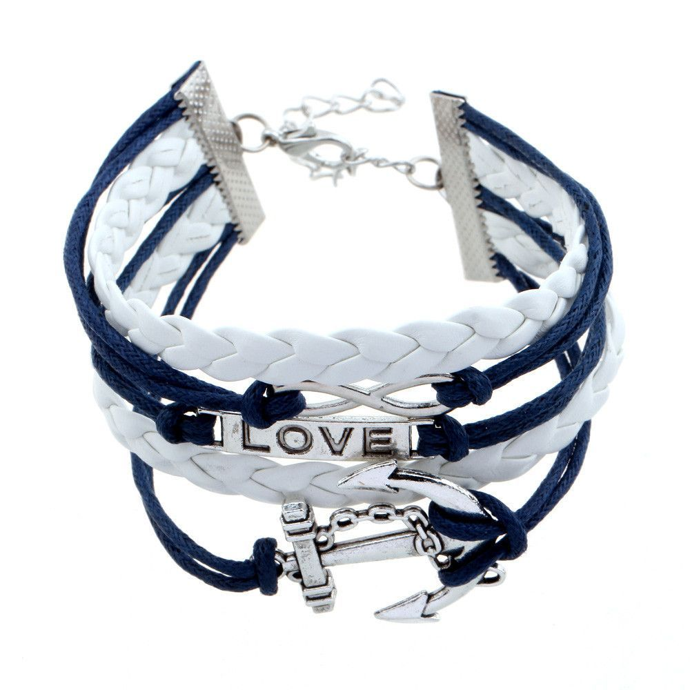 Ladies Paracord Leather Bracelets, Multi-Layer Charm