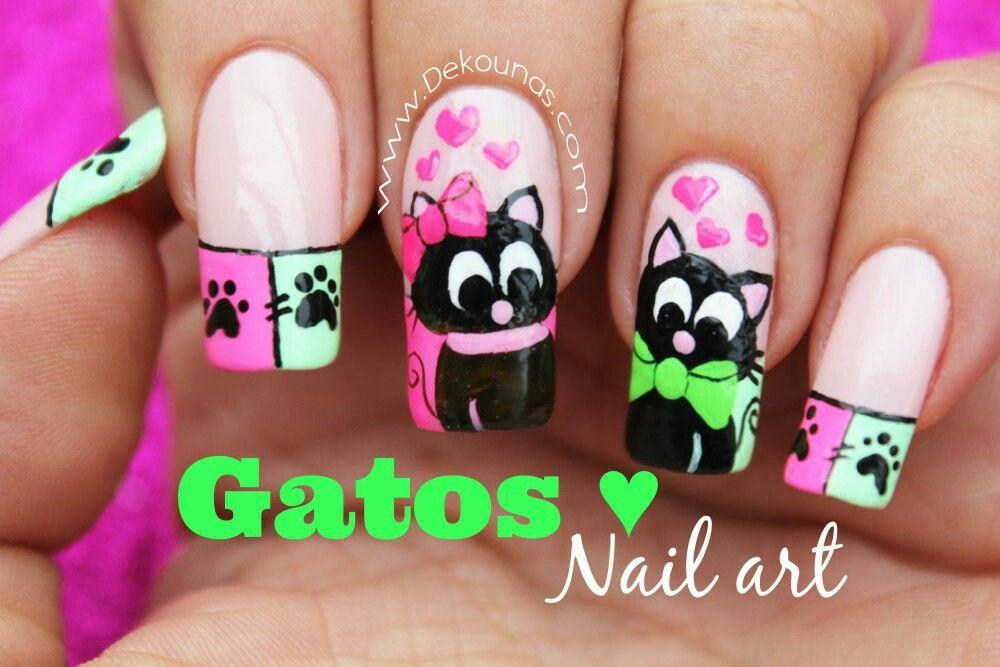 Uñas Decoradas | Dibujos y caricaturas nails | Pinterest | Uña ...