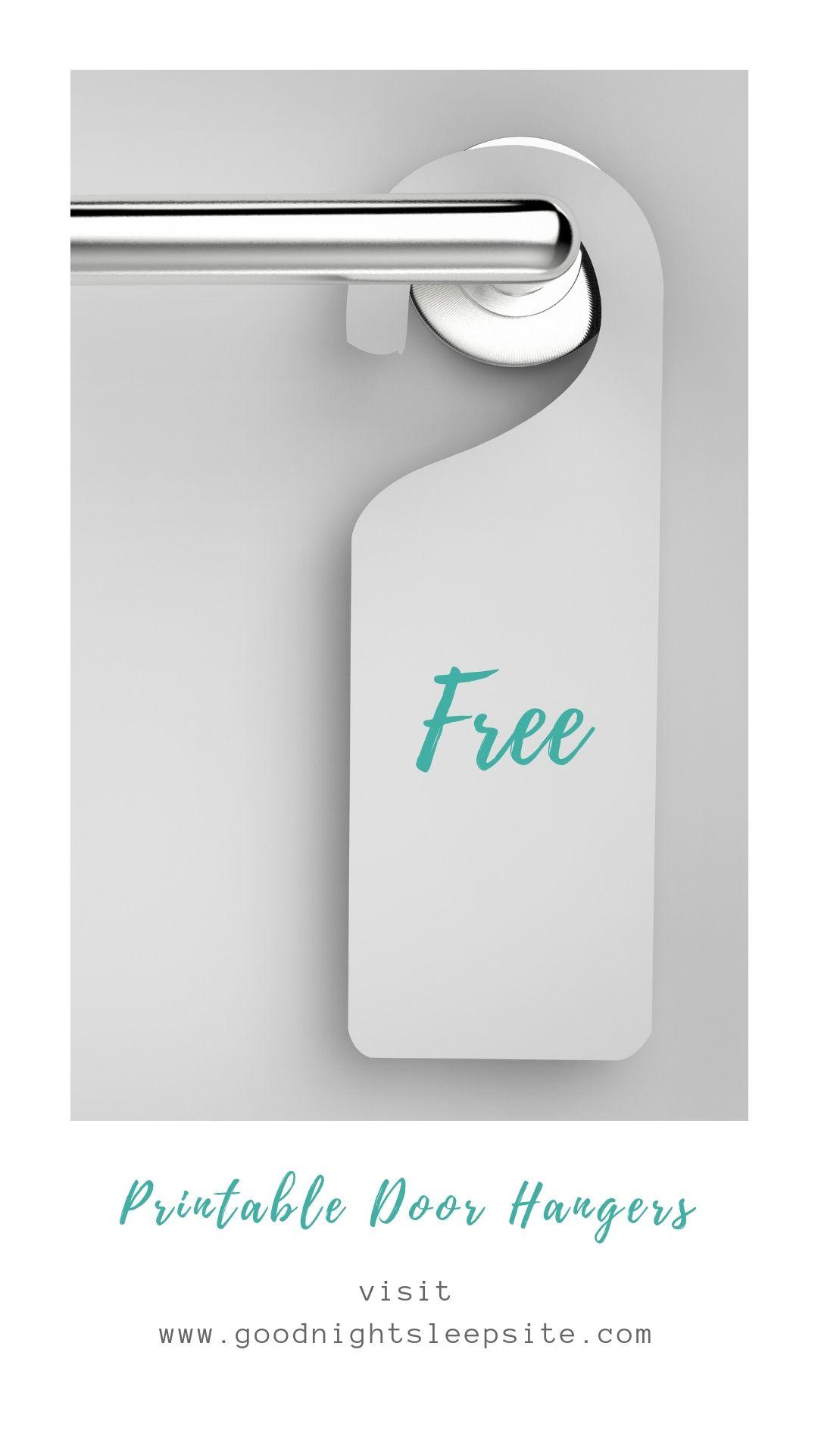 Baby Sleep Door Sign And Free Printable Sleep Worksheets