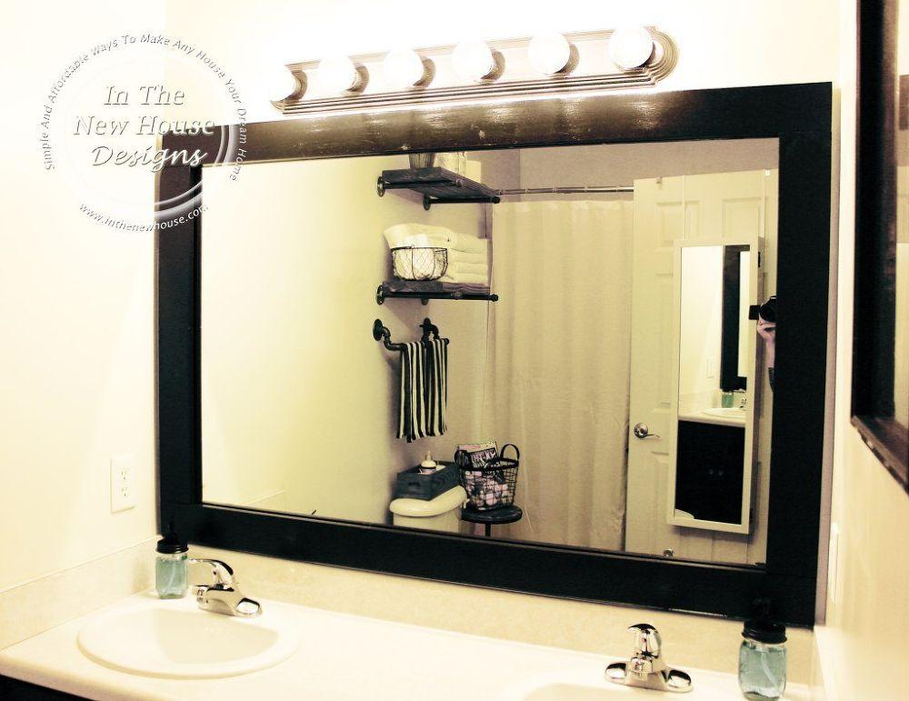 How To Frame A Bathroom Mirror On A Budget | Baño y Decoración