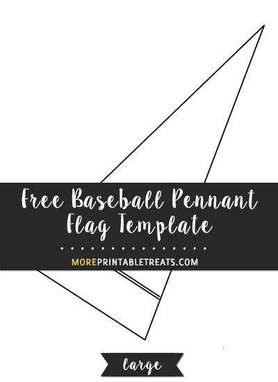 Free Baseball Pennant Flag Template Large Flag Template