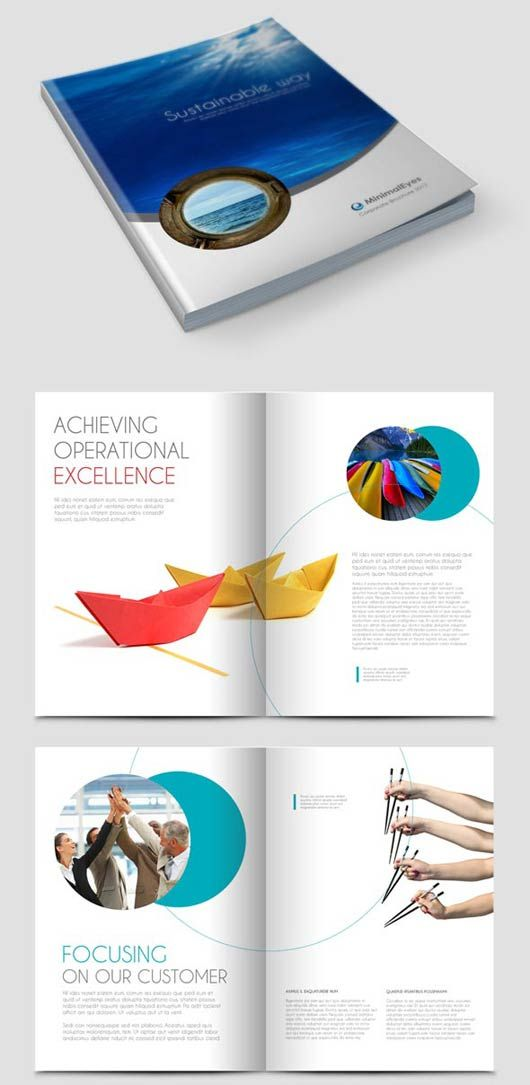 Free Annual Report Design Templates | Annual Report Brochure : This Is A 24  Page InDesign Annual Report .