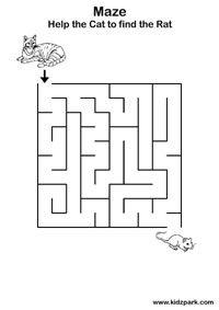 Easy Maze Practice Sheets For Kids,Kindergarten Curriculam,Activity ...