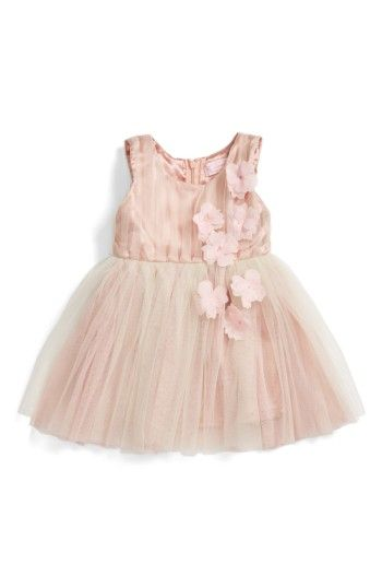 39f78a904e4 Free shipping and returns on Popatu Sleeveless Rosette Tulle Dress (Baby  Girls) at Nordstrom