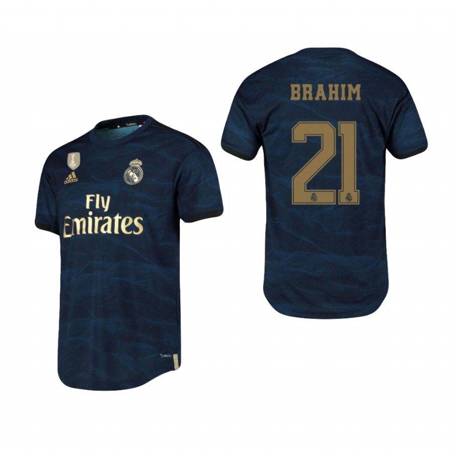 21 Brahim Diaz Valverde Real Madrid 2019 2020 Away Soccer Jersey Shirt Soccer Jersey Real Madrid Football Jersey Shirt