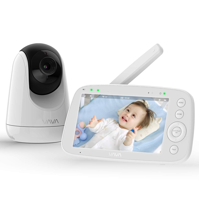 Amazon Com Baby Monitor Vava 720p 5 Hd Display Video Baby Monitor With Camera And Audio Ips Screen 48 With Images Baby Monitor Video Monitor Baby Baby Camera Monitor